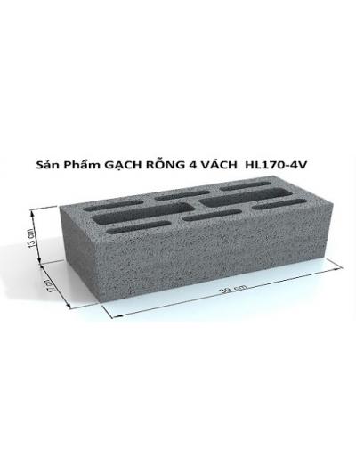 Gạch bê tông 390x170x130 4 vách