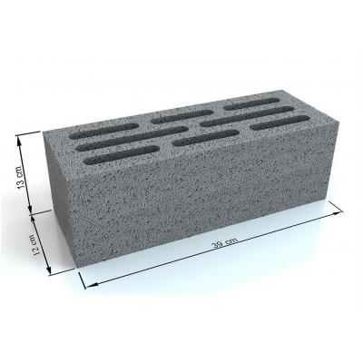 Gạch bê tông rỗng 390x120x130 4 vách